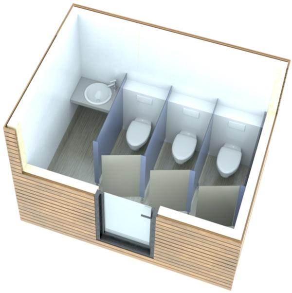 SANIBIO® C femmes bloc sanitaire, sanitaire modulaire