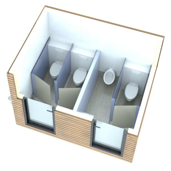 SANIBIO® C modèles mixte bloc sanitaire, sanitaire modulaire