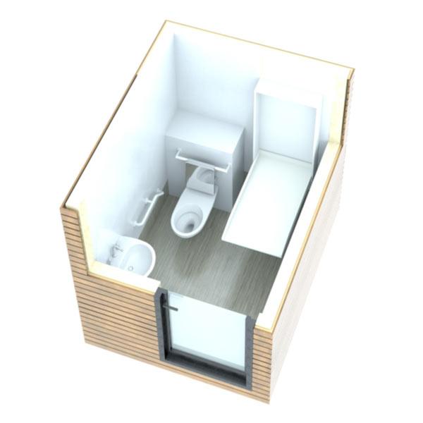 SANIBIO® C modèles PMR bloc sanitaire, sanitaire modulaire