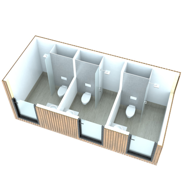 SANIBIO® L3 bloc sanitaire, sanitaire modulaire