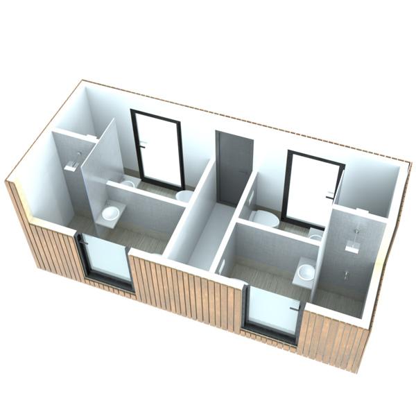 SANIBIO® L4 bloc sanitaire, sanitaire modulaire