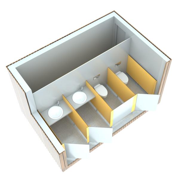 SANIBIO® X4 bloc sanitaire, sanitaire modulaire