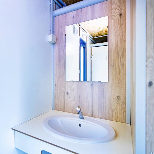SANIBIO® FERMÉ MIXTE 5X bloc sanitaire, sanitaire modulaire