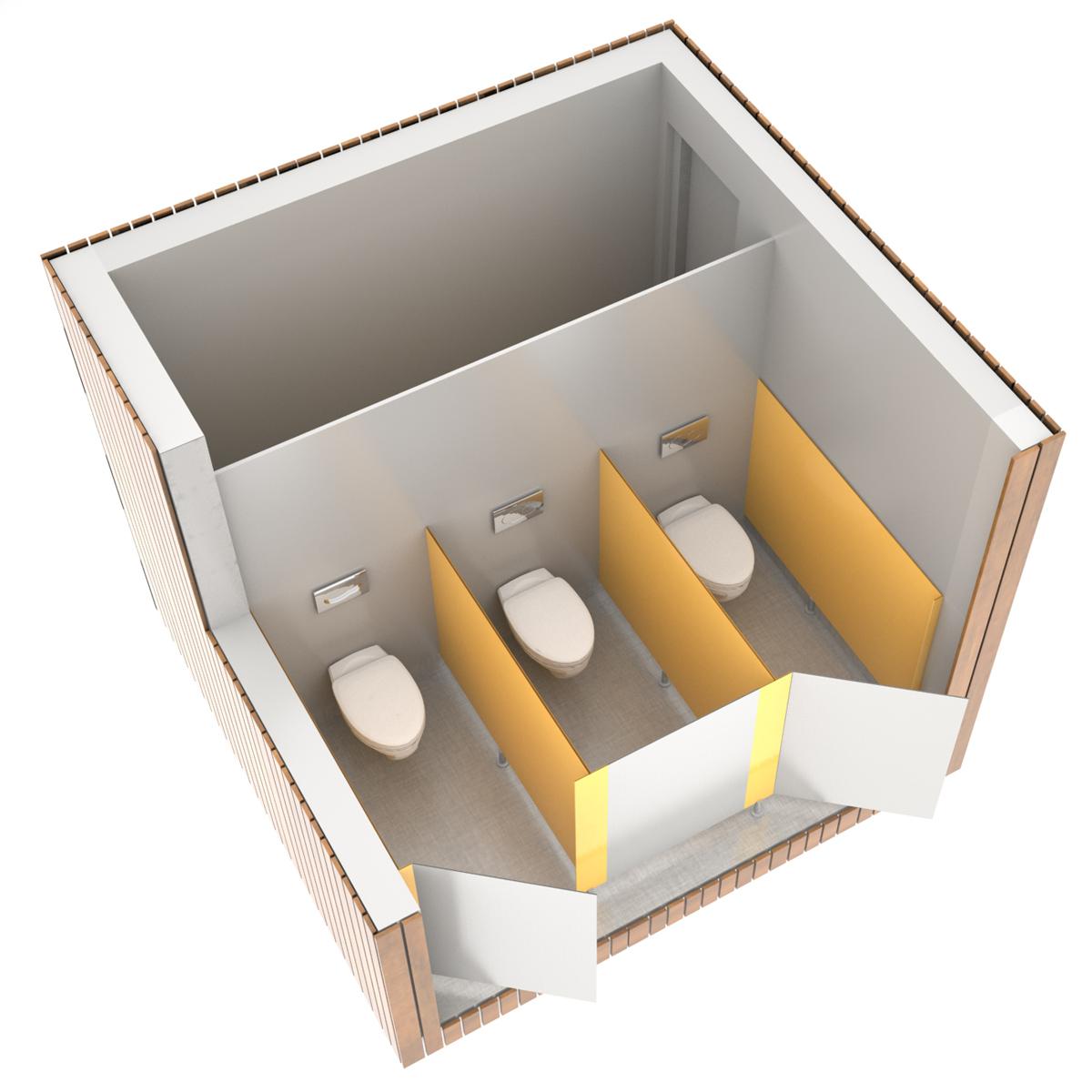 SANIBIO® OUVERT 3X bloc sanitaire, sanitaire modulaire