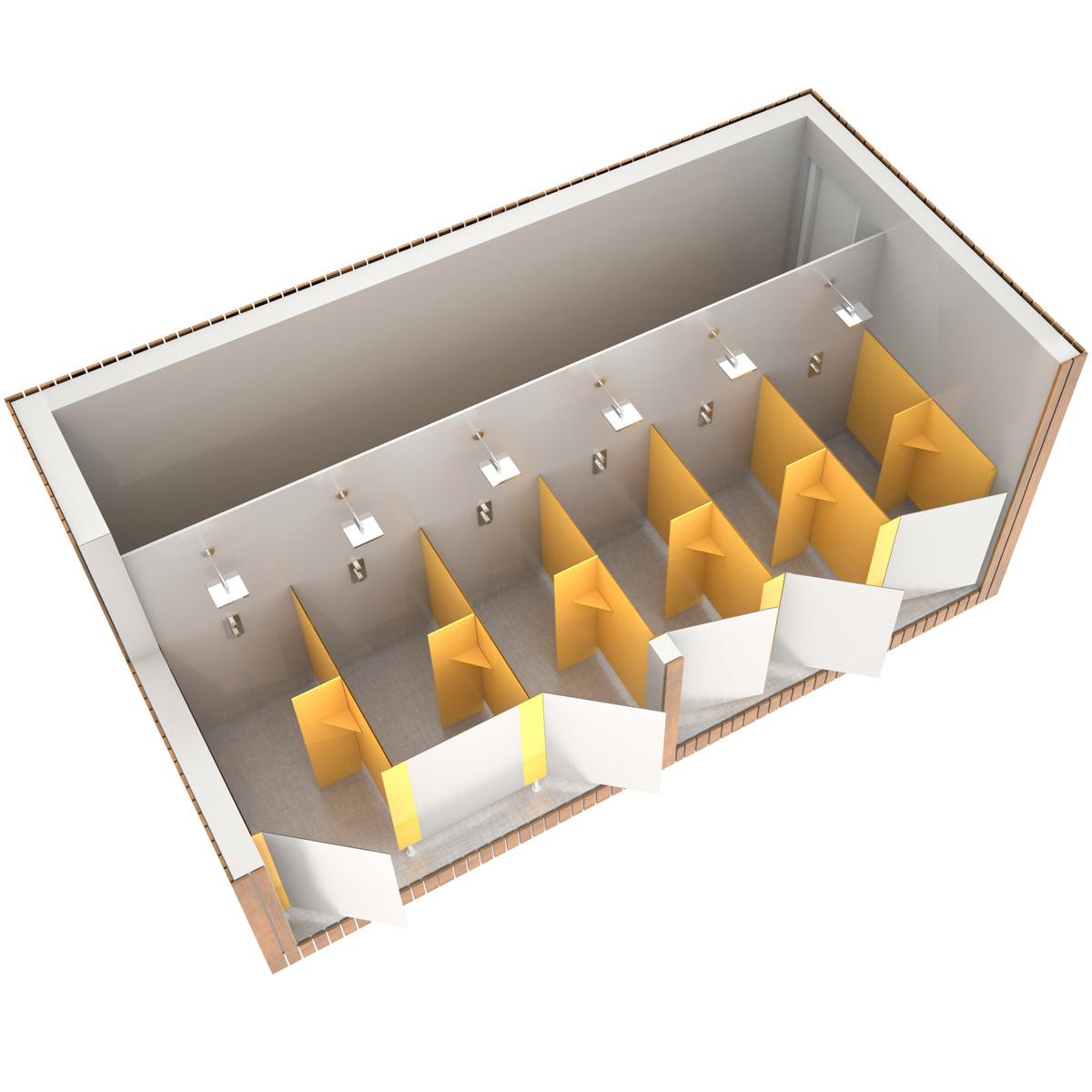 SANIBIO® OUVERT 6X bloc sanitaire, sanitaire modulaire
