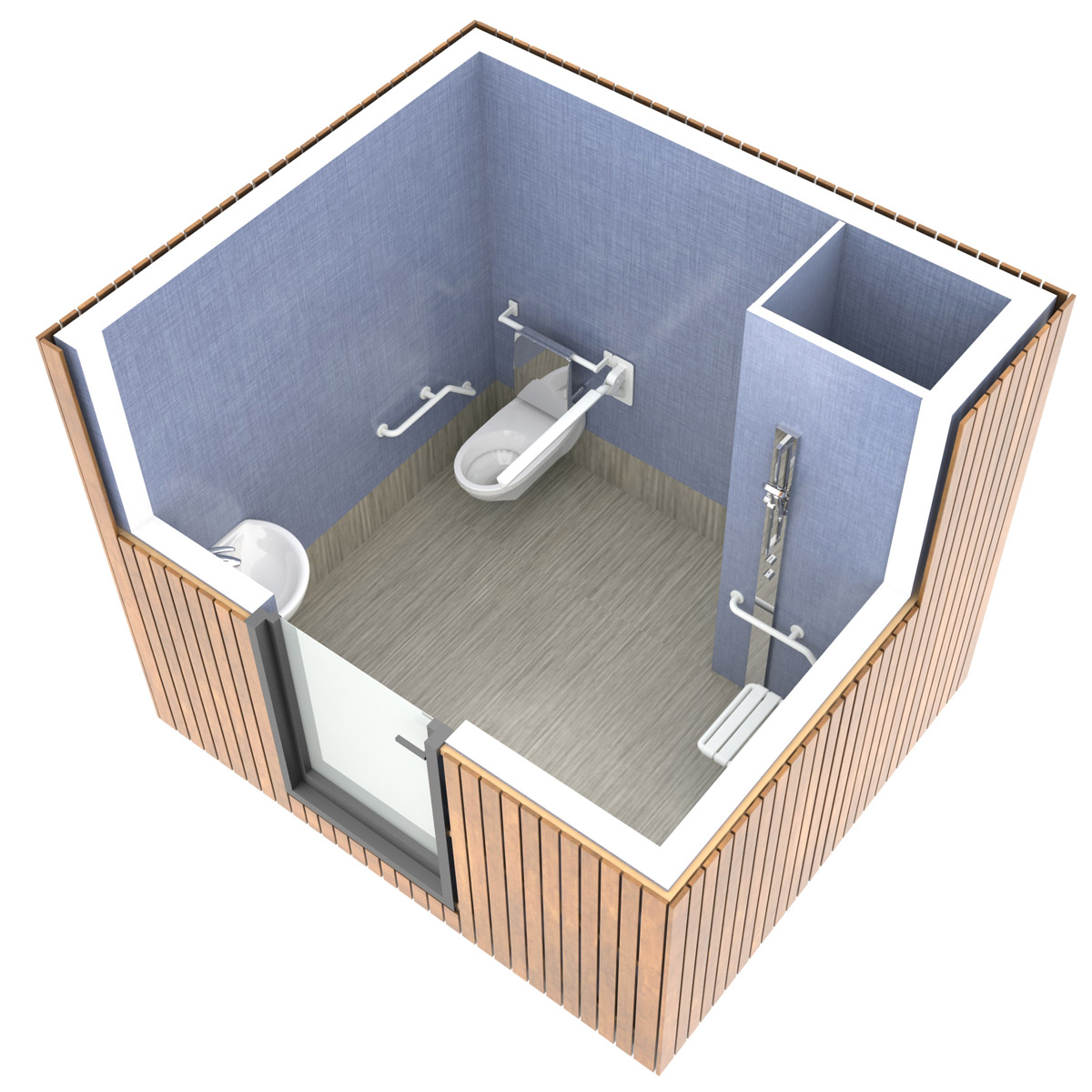 SANIBIO® PMR bloc sanitaire, sanitaire modulaire