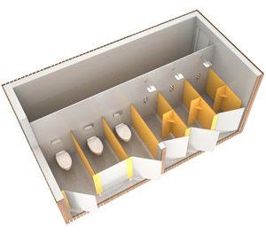 SANIBIO® gamme OUVERT sanitaire modulaire
